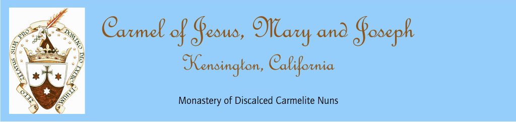Daily Life – Carmel of Jesus, Mary, & Joseph